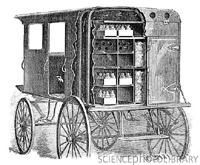 8d21ba3f9a Az 1840-es években jól szigetelt jeges kocsikon szállították a tejet és  vajat.