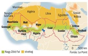 észak afrika térkép Mi MICSODA: A Nagy Zöld Fal észak afrika térkép